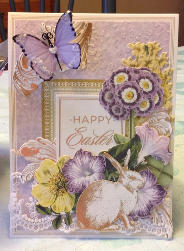 Easter card - AG and Reneabouquets