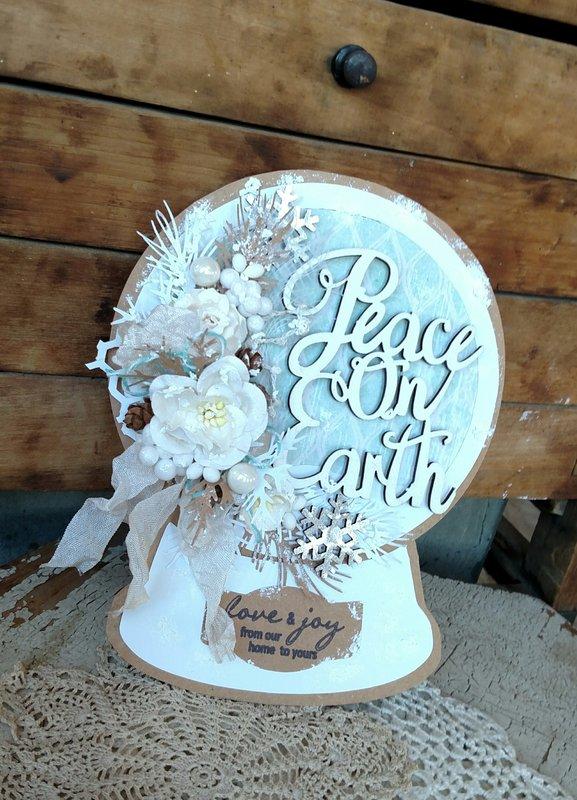 Peace on Earth Snowglobe Card