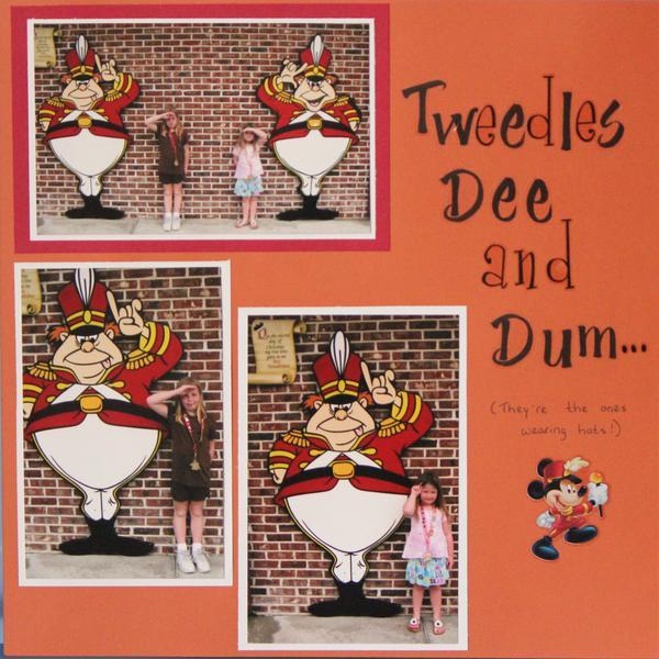 Tweedles Dee & Dum (& my daughters)