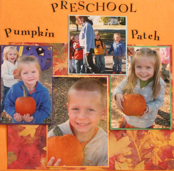 Preschool Pumpkin Patch