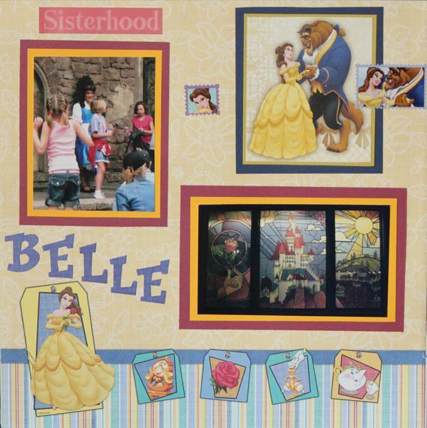 meeting Belle at Disney World