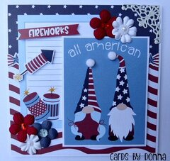 Photoplay Gnome for July 4th Card