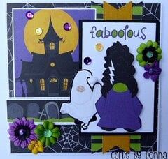 Photoplay Gnome for Halloween Card