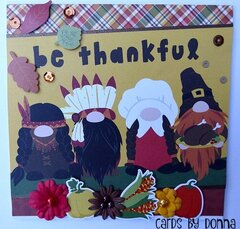 Photoplay Gnome for Thanksgiving Card