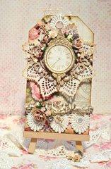 Floral Clock Tag