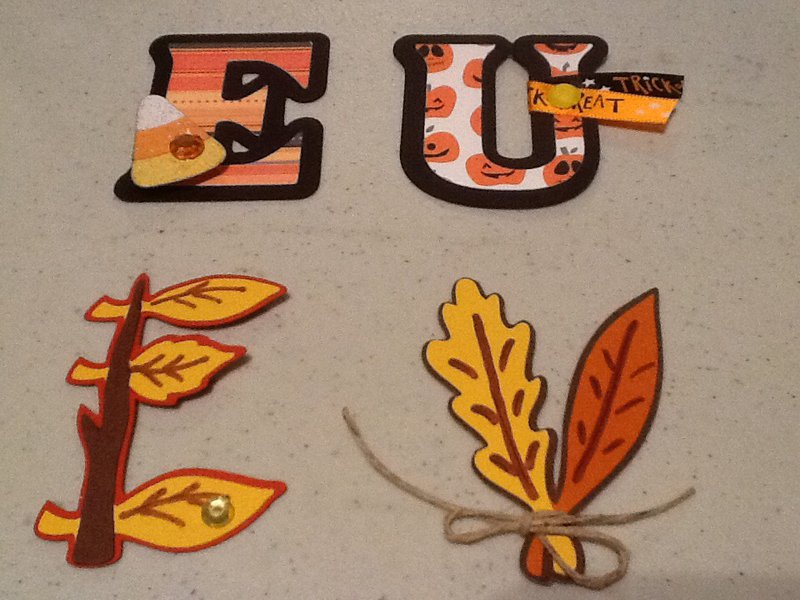 Letters of the Alphabet Swap - Fall and Halloween theme