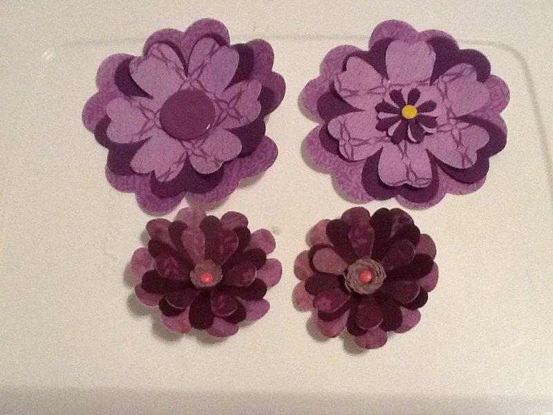 Paper Flowers Swap - Purple