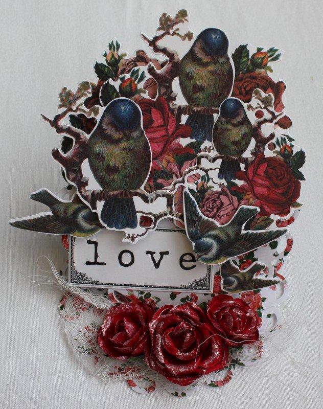 Love - easel card