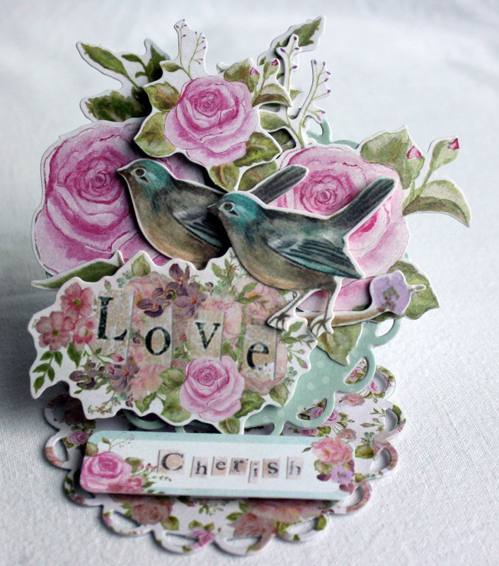 Cherish - easel card