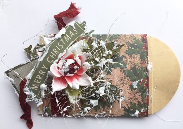 Merry Christmas - gift card envelope by Michelle Frisby