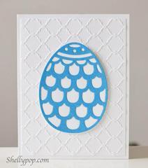 Doily Egg Card