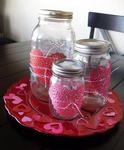 Heart Doily Jars