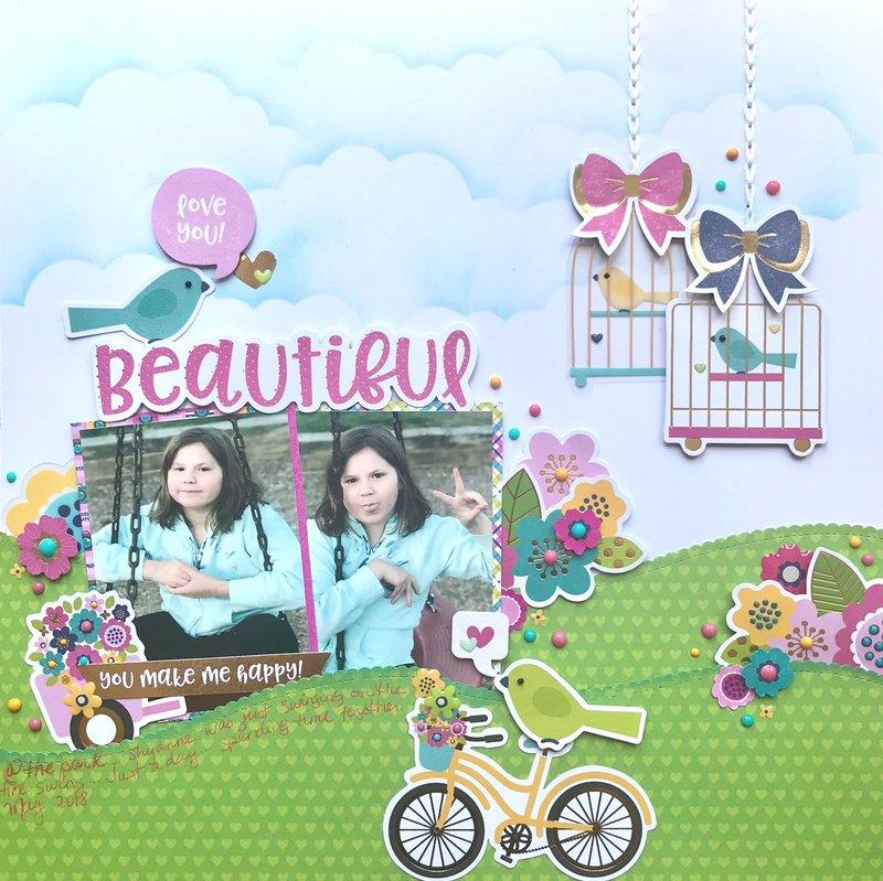 """Beautiful"" //Doodlebug Designs Hello"