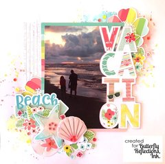 """""""Vacation"""" /// Simple Stories Hello Summer"""