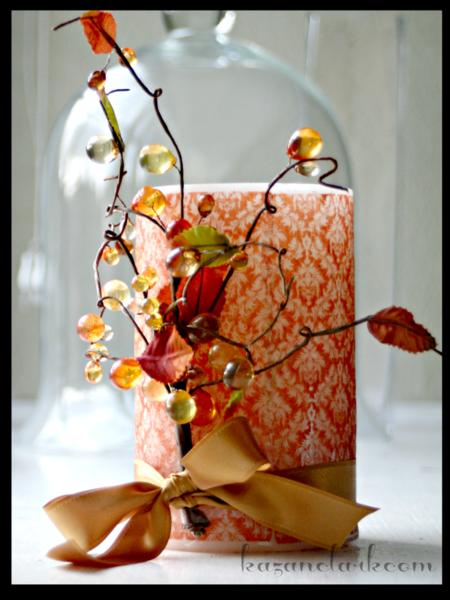 Autumn Damask Candle by Kazan Clark