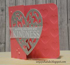 Partial Die Cut Valentine's Card