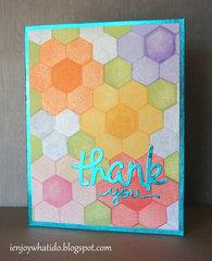 Hexagon Flower Quilt Card