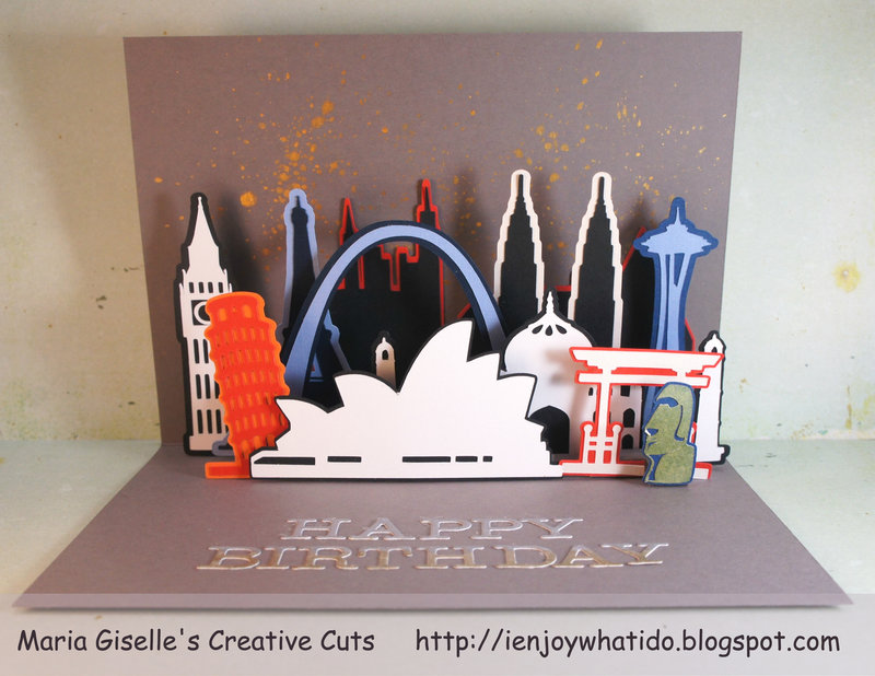 City Pop-Up Card Using Cricut