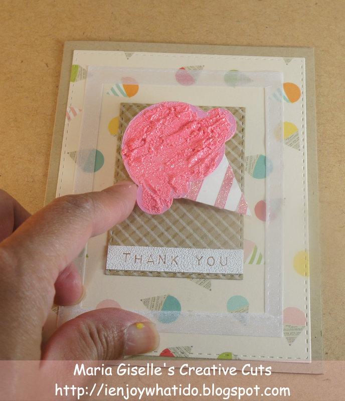 Wobbly Cricut Die Cut Thank You Card