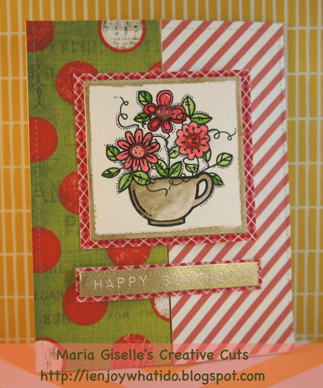 Red and Green Non-Christmas Gatefold Card