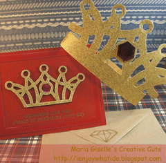 Crown and Card Gift Pair
