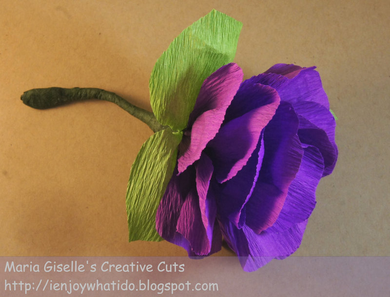 Crepe Paper Flower Corsage