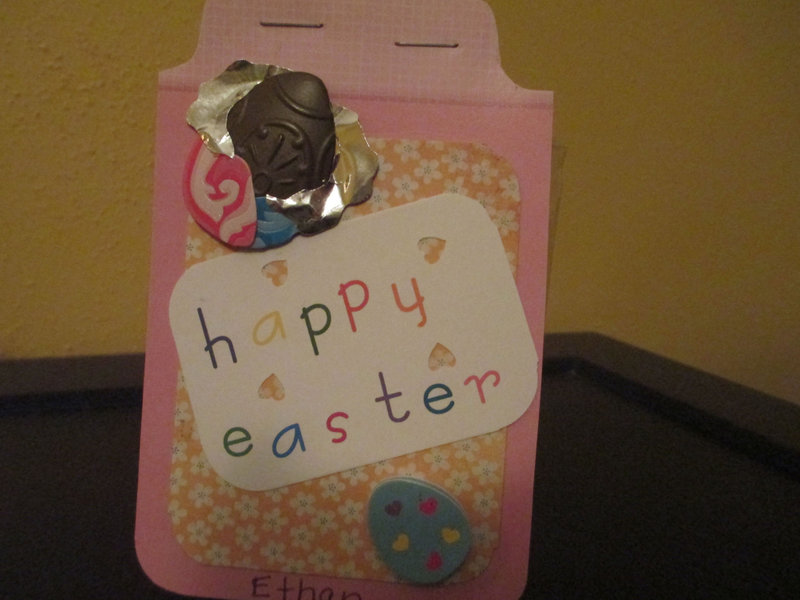 Easter Tags for my Grandchildrens treats.