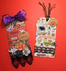 Fancy Halloween Tags