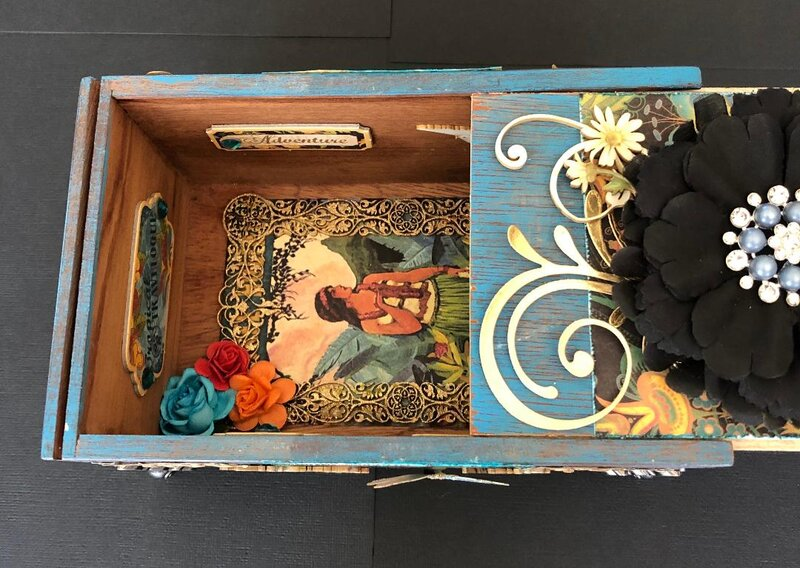 Inside view of Altered Cigar Box