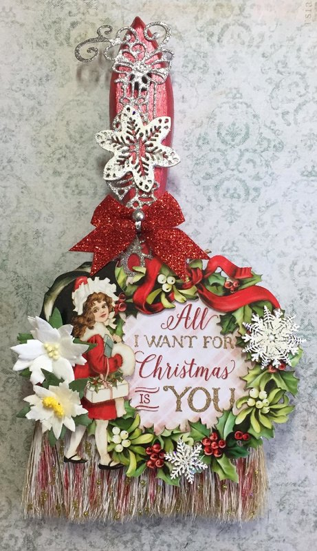Altered Christmas Paintbrush