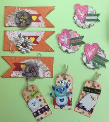 Samples of embellishments for Swap