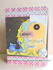 Scooting By to say Happy Mother's Day card
