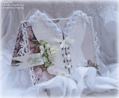Wedding card with corset