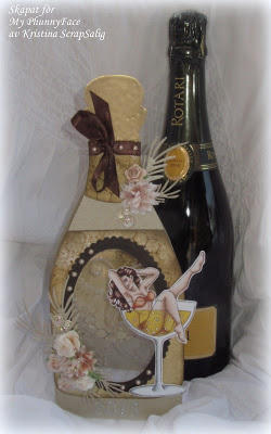Bottle shaped card