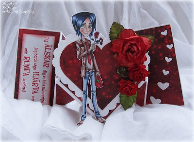 Valentine spring fold card