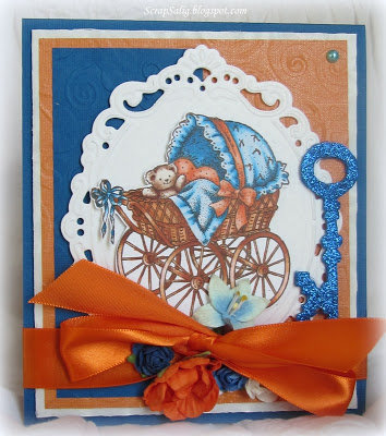 For the baby in orange & blue
