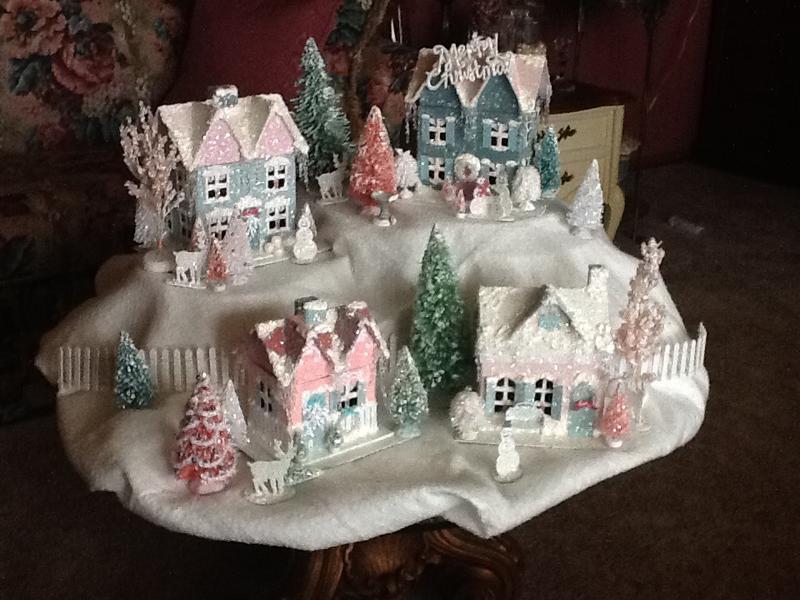 Christmas Glitter Village