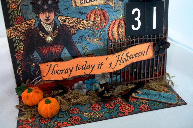 Graphic 45 Steampunk Spells Halloween Countdown Flip Calendar
