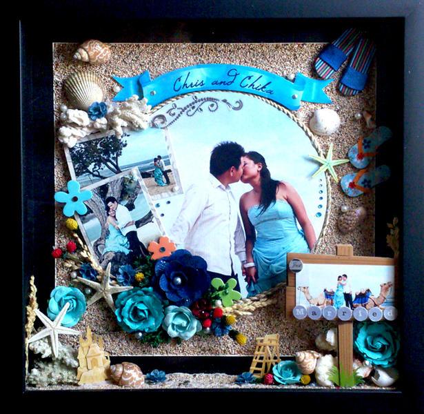 "chris & chika wedding ""blue beach"""