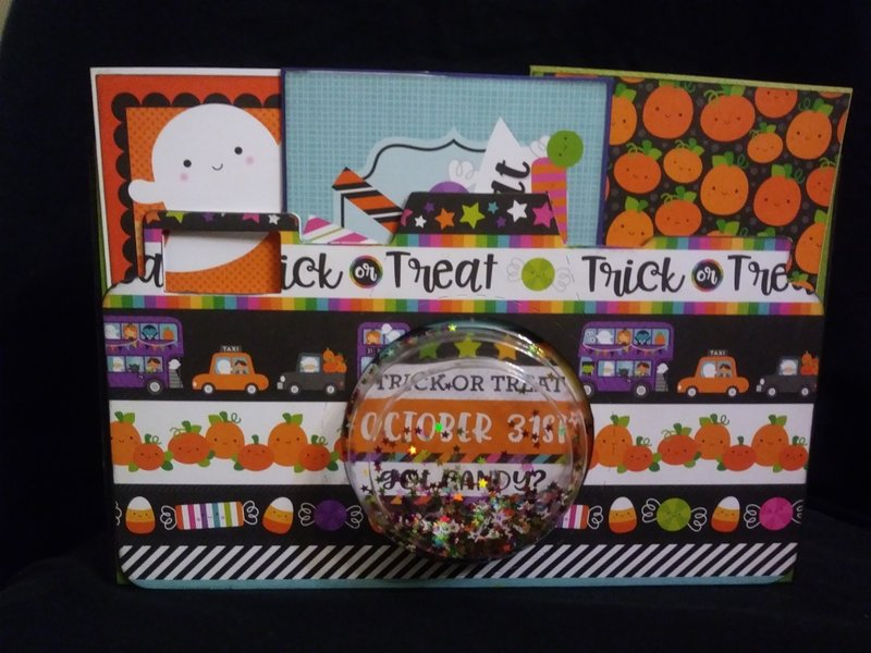 Halloween camera scrapbook