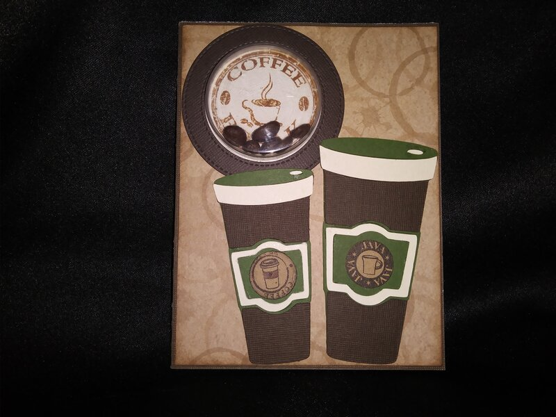 Coffee shaker card