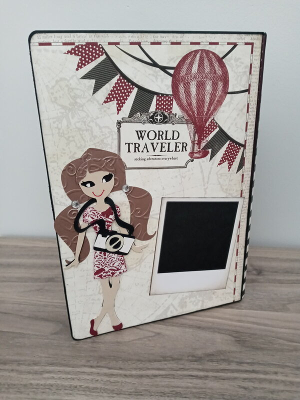 World traveler scrapbook folio