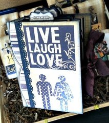 Live Love Laugh scrapbook