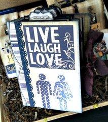 Live Love Laugh scrapbook