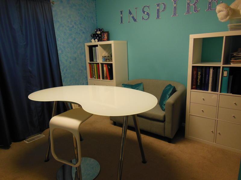 Work Table and Bookshelf