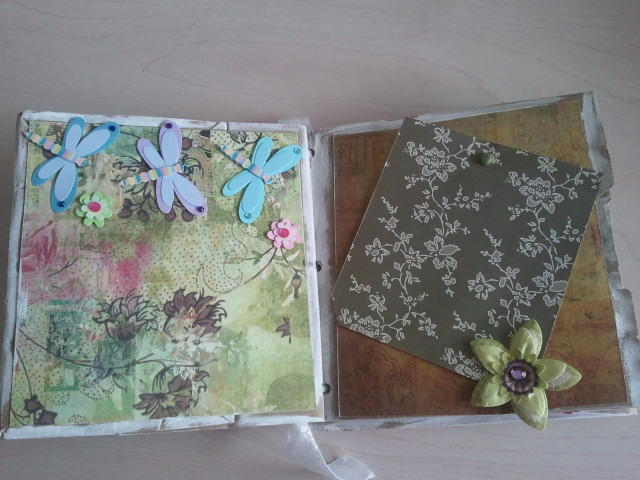 Dragonfly/butterfly scrapbook