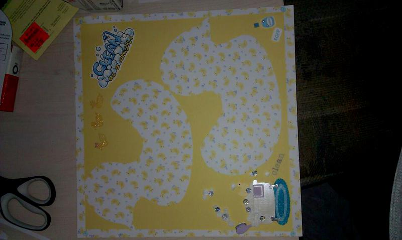 Baby first Bath layout that I made for my daughter