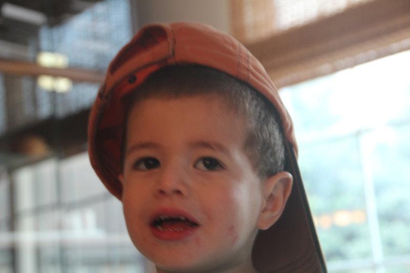 Jake in an orange hat