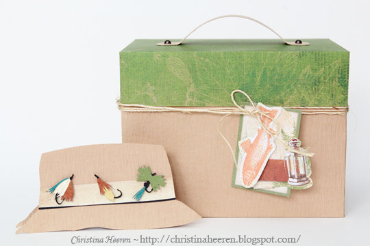 Tackle Box and Fishing Hat Card Gift Set by Christina Heeren