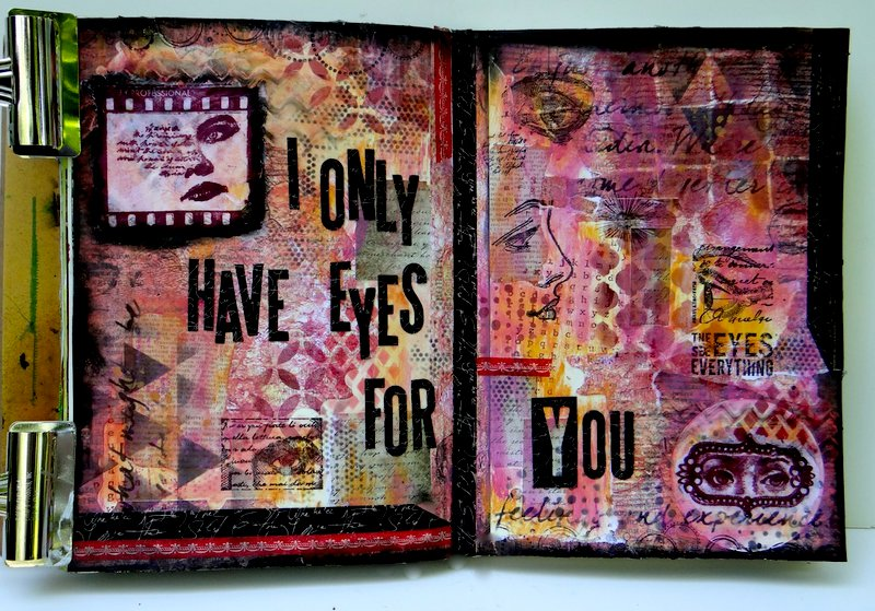 Art Journaling - Only Have Eyes for You